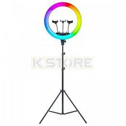 Осветительное оборудование - Кольцевая лампа RGB LED Soft Ring Light MJ18 (45 см), 0