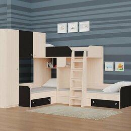 Кровати - Двухъярусная кровать Трио-1 (Дуб молочный/Венге), 0