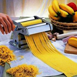 Пельменницы, машинки для пасты и равиоли - Тестораскатка лапшерезка ручная машинка для лапши новая, 0