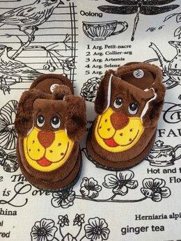 Домашняя обувь - Детские домашние тапочки с резиночкой СОБАКА,…, 0