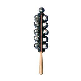 Ударные установки и инструменты - Planet Music DP-121L Бубенцы, 21шт на деревянной ручке , 0