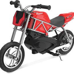 Мото- и электротранспорт - Электроскутер (электромотоцикл) Razor RSF350, 0