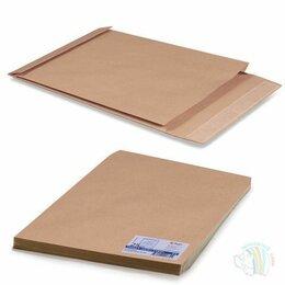 Конверты и почтовые карточки - Конверт-пакет Е4+ объемный, КОМПЛЕКТ 25шт, 300х400х40 мм, отрыв. полоса, крафт-б, 0