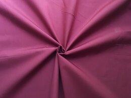 Ткани - Ткань сорочечная однотонная, бордового цвета, 0