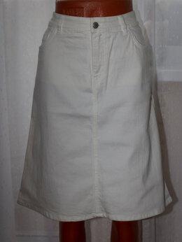 Юбки -  Джинсовая белая юбка рр 44-46+, 0