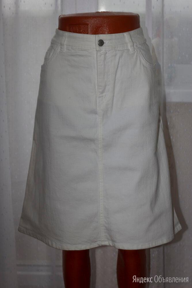 Джинсовая белая юбка рр 44-46+ по цене 300₽ - Юбки, фото 0