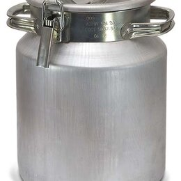 Фляги - Фляга для молока алюминиевая 18 литров, 0