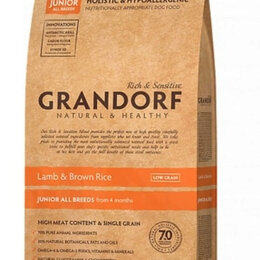Корма  - GRANDORF Сухой корм для юниоров с ягненком и рисом 12 кг , 0