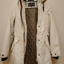 Куртки и пуховики - Куртка парка белая isepeak 38 размер, 0