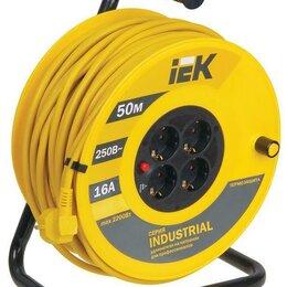 Кабели и провода - Удлинитель 16 ампер 50 метров IEK, 0