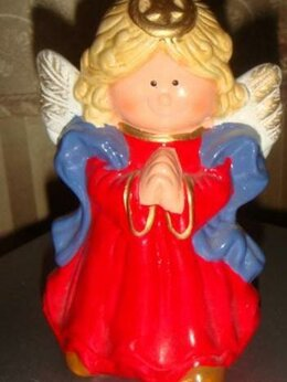 Новогодние фигурки и сувениры - Статуэтка Ангел винтаж 80х годов фарфор, 0