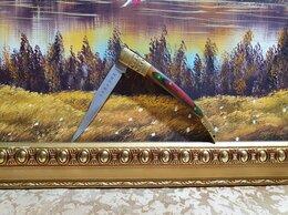 Ножи и мультитулы - Нож складной, Абхазия; латунь, дерево, 0