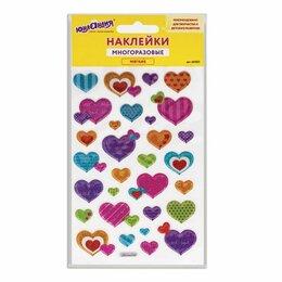 """Интерьерные наклейки - Наклейки зефирные """"Сердца"""", многоразовые, с…, 0"""