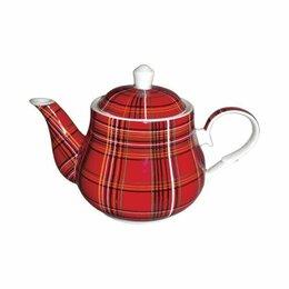 """Кружки, блюдца и пары - Кружки,сахарница и чайник в дизайне """"шотландка"""", 0"""