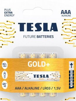 Батарейки - Батарейки Tesla GOLD AAA+4ks GOLD Alkaline AAA (LR, 0