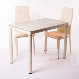 Столы и столики - Стол обеденный 100*60 - бежевый, 0