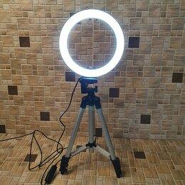Осветительное оборудование - Кольцевая -лампа 20cm (2316)+Штатив-Трипод…, 0