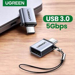 Компьютерные кабели, разъемы, переходники - OTG адаптер USB Type-C / USB 3.0 новый с гарантией, 0