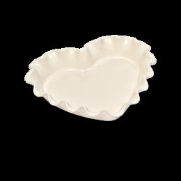 Выпечка и запекание - Форма для пирога «Сердце» Emile Henry, цвет: крем, 0