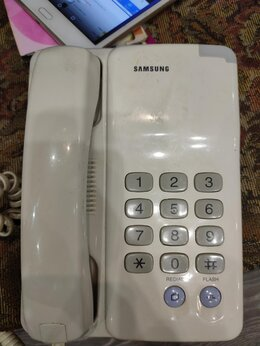 Проводные телефоны - Проводной рабочий телефон Samsung sp f203,Корея бу, 0