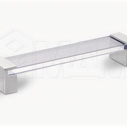 Аксессуары и запчасти - Ручка-скоба 160мм хром/стекло прозрачное: 370.160.10, 0