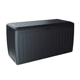 Плетеная мебель - Ящик с ручками 290 л антрацит Prosperplast Boxe Board, 0