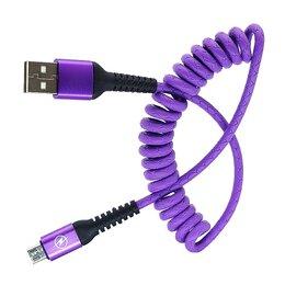 Зарядные устройства и адаптеры - Кабель USB 3A (microUSB) 1м витой  (M38), 0