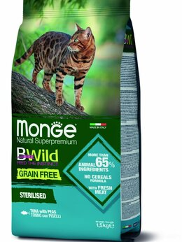Корма  - Monge Cat BWild GRAIN FREE беззерновой корм из…, 0