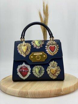 Сумки - Сумка Dolce Gabbana синяя кожа женская новая, 0