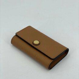 Брелоки и ключницы - Ключница Louis Vuitton кожаная мужская/женская коричневая новая, 0