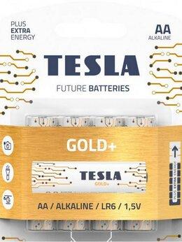 Батарейки - Батарейки Tesla GOLD AA+ 4ks GOLD Alkaline AA (LR0, 0