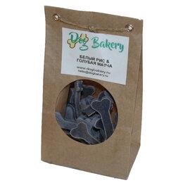 Лакомства  - Dog Bakery - Печенье для собак с рисом и голубым чаем матча, 0
