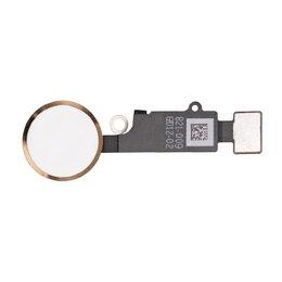 Шлейфы - Шлейф iPhone 7 / 7 Plus на кнопку HOME (золотой), 0