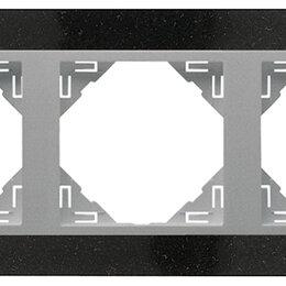 Фоторамки - 3-х местная рамка, натуральный гранит / алюминий, Efapel, 0