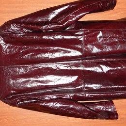 Куртки - Кожаная куртка (полупальто) на меху, 0