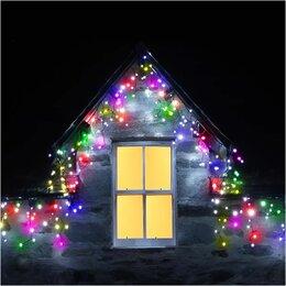 Новогодний декор и аксессуары - Гирлянда уличная, 100 крупных LED, 10 метров, 0