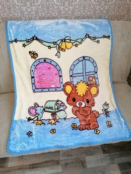 Покрывала, подушки, одеяла - Плед детский новый , 0