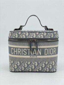 Косметички и бьюти-кейсы - Косметичка Christian Dior текстиль серая женская…, 0