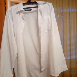Рубашки - Продам рубашку с короткими рукавами. Белая в полоску., 0