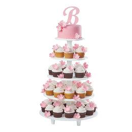 Аксессуары - Свадебный торт с капкейками собранными на…, 0
