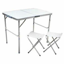 Походная мебель - Складной стол с 2 стульями , размер 60х90, 0