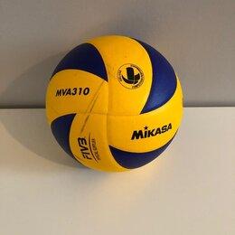 Мячи - Волейбольный мяч Mikasa MVA310 желто-синий, 0