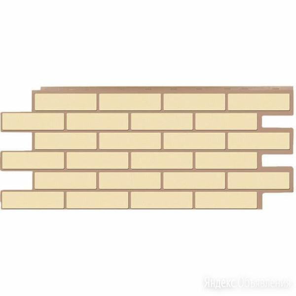 Фасадные панели (цокольный сайдинг) коллекция кирпич Модерн - Желтый по цене 534₽ - Фасадные панели, фото 0
