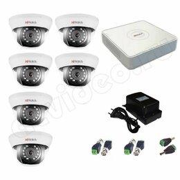 Камеры видеонаблюдения - Комплект видеонаблюдения HiWatchFull HD на 6камер, 0