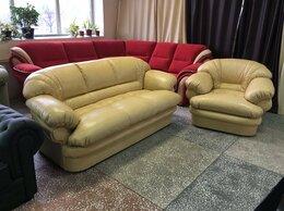 Диваны и кушетки - диван и кресло Венеция кожа, 0