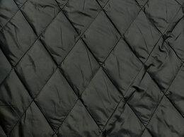 Ткани - Ткань стеганная курточная черного цвета, 0
