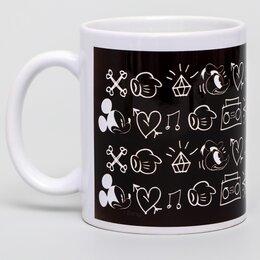 Кружки, блюдца и пары - Кружка сублимация Black, Микки Маус, 350 мл, 0