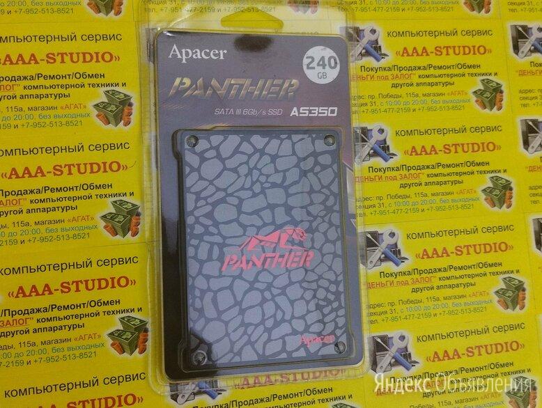 SSD 240GB Apacer Panther AS350 новый по цене 2390₽ - Внешние жесткие диски и SSD, фото 0