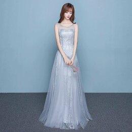 Платья - Новое Серебристое платье, 0