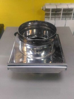 Дымоходы - Шибер дымохода выдвижной Ф150 (430/0,8-1,5 мм), 0